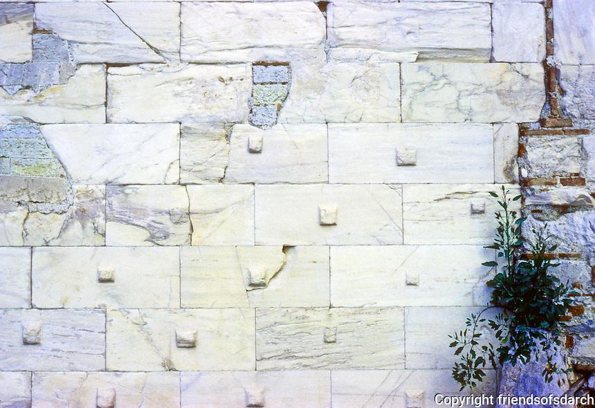 Athens: Detail--Wall of Erechtheion, Acropolis. Photo '82.