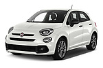 2020 Fiat 500X Sport 5 Door SUV Angular Front automotive stock photos of front three quarter view