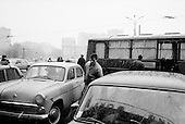 """Moscow, Russia<br /> October 22, 1992<br /> <br /> The parking lot of Kievski train station. <br /> <br /> In December 1991, food shortages in central Russia had prompted food rationing in the Moscow area for the first time since World War II. Amid steady collapse, Soviet President Gorbachev and his government continued to oppose rapid market reforms like Yavlinsky's """"500 Days"""" program. To break Gorbachev's opposition, Yeltsin decided to disband the USSR in accordance with the Treaty of the Union of 1922 and thereby remove Gorbachev and the Soviet government from power. The step was also enthusiastically supported by the governments of Ukraine and Belarus, which were parties of the Treaty of 1922 along with Russia.<br /> <br /> On December 21, 1991, representatives of all member republics except Georgia signed the Alma-Ata Protocol, in which they confirmed the dissolution of the Union. That same day, all former-Soviet republics agreed to join the CIS, with the exception of the three Baltic States."""