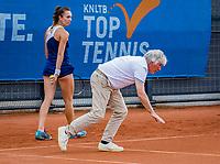 Amstelveen, Netherlands, 7 Juli, 2021, National Tennis Center, NTC, Amstelveen Womans Open, Valentini Grammatikopoulou (GRE) looks on when the umpite checks the line<br /> Photo: Henk Koster/tennisimages.com