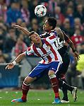 Atletico de Madrid's Mario Mandzukic (l) and Bayer 04 Leverkusen's Wendell during Champions League 2014/2015 match.March 16,2015. (ALTERPHOTOS/Acero)