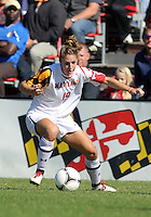 COLLEGE PARK, MD - OCTOBER 21, 2012:  Becky Kaplan (19) of the University of Maryland against Florida State during an ACC women's match at Ludwig Field in College Park, MD. on October 21. Florida won 1-0.