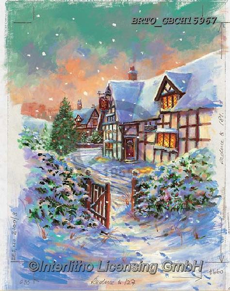 Alfredo, CHRISTMAS LANDSCAPES, WEIHNACHTEN WINTERLANDSCHAFTEN, NAVIDAD PAISAJES DE INVIERNO, paintings+++++,BRTOGBCH15967,#xl#