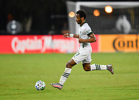 LAKE BUENA VISTA, FL - AUGUST 01: Jeremy Ebobisse #17 of the Portland Timbers passes the ball during a game between Portland Timbers and New York City FC at ESPN Wide World of Sports on August 01, 2020 in Lake Buena Vista, Florida.