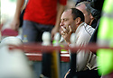 09/09/2006        Copyright Pic: James Stewart.File Name : jspa24_motherwell_v_ict.A DEJECTED MAURICE MALPAS CAN'T BEAR TO WATCH AS HIS SIDE GO DOWN TO ANOTHER HOME DEFEAT.....Payments to :.James Stewart Photo Agency 19 Carronlea Drive, Falkirk. FK2 8DN      Vat Reg No. 607 6932 25.Office     : +44 (0)1324 570906     .Mobile   : +44 (0)7721 416997.Fax         : +44 (0)1324 570906.E-mail  :  jim@jspa.co.uk.If you require further information then contact Jim Stewart on any of the numbers above.........
