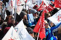 Manifestation des enseignants contre l'austérité,  13 mars 2015.<br /> <br /> PHOTO : Agence Québec Presse
