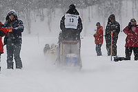 Garry McKeller of Willow leaves the start line of the 2009 Junior Iditarod on Knik Lake on Saturday Februrary 28, 2009.