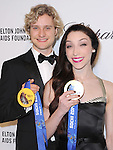 Meryl Davis and Charlie White  attends the 2014 Elton John AIDS Foundation Academy Awards Viewing Party in West Hollyood, California on March 02,2014                                                                               © 2014 Hollywood Press Agency