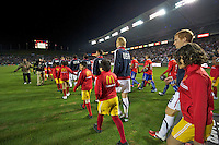Carson, Ca-January 22, 2010: The starting 11 of the USA men's national team take the field during a 1-1 tie with Chile at the Home Depot Center in Carson, California.