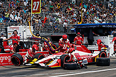 2017 Verizon IndyCar Series - Firestone Grand Prix of St. Petersburg<br /> St. Petersburg, FL USA<br /> Sunday 12 March 2017<br /> Marco Andretti pit stop<br /> World Copyright:Sam Cobb/LAT Images<br /> ref: Digital Image cobb-stpete-170312-4445