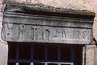 Europe/France/Auvergne/12/Aveyron/Sylvanes: Détail de l'enseigne d'un forgeron