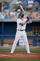 Charlotte Stone Crabs Russ Olive (34) during a Florida State League game against the Fort Myers Miracle on April 6, 2019 at Charlotte Sports Park in Port Charlotte, Florida.  Fort Myers defeated Charlotte 7-4.  (Mike Janes/Four Seam Images)
