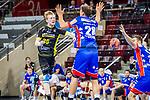 Sascha Pfattheicher (TVB Stuttgart #30) ; Tobias Heinzelmann (HBW Balingen #28) ; Rene Zobel (HBW Balingen #2) ; BGV Handball Cup 2020 Halbfinaltag: TVB Stuttgart vs. HBW Balingen-Weilstetten am 11.09.2020 in Ludwigsburg (MHPArena), Baden-Wuerttemberg, Deutschland<br /> <br /> Foto © PIX-Sportfotos *** Foto ist honorarpflichtig! *** Auf Anfrage in hoeherer Qualitaet/Aufloesung. Belegexemplar erbeten. Veroeffentlichung ausschliesslich fuer journalistisch-publizistische Zwecke. For editorial use only.