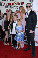 Eve + husband Maximillion Cooper + children @ the premiere of 'Barber Shop The Next Cut' held @ the Chinese theatre.<br /> April 6, 2016