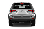 Straight rear view of 2017 JEEP Grand-Cherokee Limited 5 Door SUV Rear View  stock images