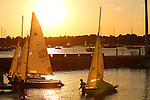 The New York Yacht Club during sunset time, Newport, Rhode Island.