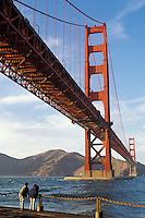 California, San Francisco, Golden Gate Bridge from Fort Point, GGNRA