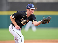 Bishop Moore Hornets third baseman Dominic Scavone (15) during the 42nd Annual FACA All-Star Baseball Classic on June 6, 2021 at Joker Marchant Stadium in Lakeland, Florida.  (Mike Janes/Four Seam Images)