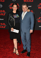 """Patton Oswalt & Meredith Salenger at the world premiere for """"Star Wars: The Last Jedi"""" at the Shrine Auditorium. Los Angeles, USA 09 December  2017<br /> Picture: Paul Smith/Featureflash/SilverHub 0208 004 5359 sales@silverhubmedia.com"""