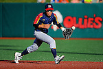 July 31, 2015: Tatsuki Okamoto (14) of Japan boots a ground ball for an error in the international championship between Japan and Mexico during the Cal Ripken World Series at the Ripken Experience powered by Under Armour in Aberdeen, Maryland. Mexico won 7-3. Scott Serio/Ripken Baseball/CSM