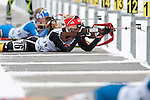 MARTELL-VAL MARTELLO, ITALY - FEBRUARY 02: HORCHLER Karolin (GER) during the Women 7.5 km Sprint at the IBU Cup Biathlon 6 on February 02, 2013 in Martell-Val Martello, Italy. (Photo by Dirk Markgraf)