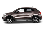 Car Driver side profile view of a 2016 Fiat 500X Trekking-Plus-4WD 5 Door SUV Side View
