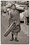 Man with salvage materials. Ubud, Bali, Indonesia