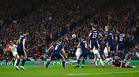 9th October 2021; Hampden Park, Glasgow, Scotland; FIFA World Cup football qualification, Scotland versus Israel;  Eran Zahavi of Israel makes it 0-1 to Israel in the 5th minute from a direct free kick
