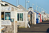 Charter excursion ticket booths, Provincetown, Cape Cod, USA