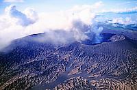 Mount Bembow, an active volcano on the island of Ambrym, Vanuatu.