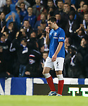 Lee Wallace walks off after seeing red