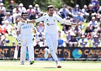 Shaheen Afridi of Pakistan celebrates a wicket during day two of the second International Test Cricket match between the New Zealand and Pakistan at Hagley Oval in Christchurch, New Zealand on Monday, 04 January 2021. Photo: Martin Hunter / lintottphoto.co.nz
