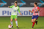 Atletico de Madrid's Marta Corredera (r) and VfL Wolfsburg's Vanessa Bernauer during UEFA Womens Champions League 2017/2018, 1/16 Final, 1st match. October 4,2017. (ALTERPHOTOS/Acero)