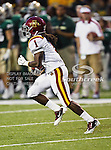 Iowa State Cyclones wide receiver Jarvis West (1) in action during the game between the Iowa State Cyclones and the Baylor Bears at the Floyd Casey Stadium in Waco, Texas. Baylor defeats Iowa State 49 to 26.