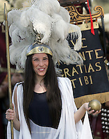 Natale di Roma: parata promossa dal Gruppo Storico Romano a Roma, 20 aprile 2008, in occasione delle celebrazioni per il 2761esimo anniversario della Fondazione di Roma..Parade promoted by the Gruppo Storico Romano (Historical Roman Group) in downtown Rome, 20 april 2008, in occasion of the commemoration for the 2761st anniversary of Rome's Foundation..UPDATE IMAGES PRESS/Riccardo De Luca