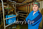 Kevin Galvin, Dairy Farmer on his farm in Ballyrehan Lixnaw.