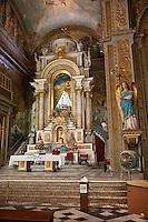 Cuba, Havana.  Altar of the Church of La Merced.