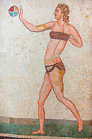 The Bikini Girls. Ancient Roman mosaics at the Villa Romana del Casale, Sicily, Italy Pictures, Photos, Images & fotos