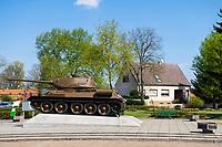 Kienitzer Panzerdenkmal, erster Brückenkopf der Roten Armee 1945, Kienitz, Gemeinde Letschin, Oder-Neiße-Radweg, Oderbruch, Märkisch Oderland, Brandenburg, Deutschland