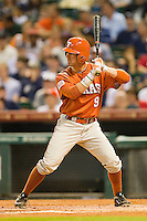 Tim Maitland #9 of the Texas Longhorns at bat against the Rice Owls at Minute Maid Park on March 2, 2012 in Houston, Texas.  The Longhorns defeated the Owls 11-8.  (Brian Westerholt/Four Seam Images)