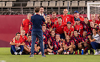 KASHIMA, JAPAN - AUGUST 5: The USWNT poses for a photo after a game between Australia and USWNT at Kashima Soccer Stadium on August 5, 2021 in Kashima, Japan.