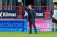25th September 2021; Kilmac Stadium, Dundee, Scotland: Scottish Premiership football, Dundee versus Rangers; Rangers manager Steven Gerrard gives instructions to his players
