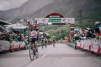 Diego Ulissi (ITA/UAE-Emirates) wins the uphill finish of stage 5<br /> <br /> Stage 5: Gstaad > Leukerbad (155km)<br /> 82nd Tour de Suisse 2018 (2.UWT)
