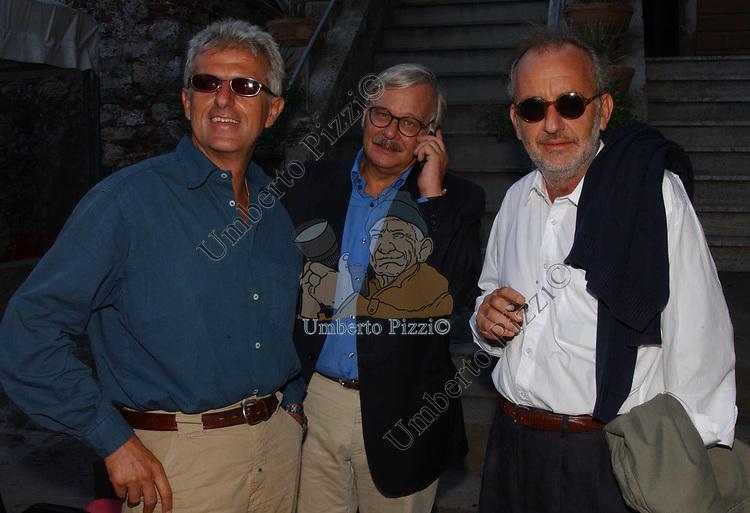 GIULIANO GIUBILEI, ENNIO REMONDINO E PAOLO FRANCHI<br /> PREMIO LETTERARIO CAPALBIO 2003