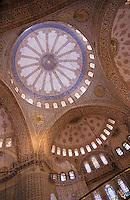Europe/Turquie/Istanbul : Coupole de la Mosquée Bleue