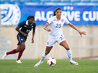 Faro, Portugal - March 11, 2015: The USWNT defeated France 2-0 to win the 2015 Algarve Cup.