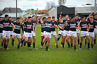 The Feilding team performs a haka before the 2017 Hurricanes Secondary Schools girls rugby union final between Manukura College and St Mary's College at Arena Manawatu in Palmerston North, New Zealand on Saturday, 2 September 2017. Photo: Dave Lintott / lintottphoto.co.nz