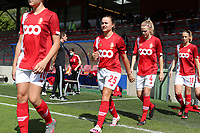 Standard's Davinia Vanmechelen (25) and Standard's Merel Bormans (4) walk onto the pitch during a female soccer game between Standard Femina de Liege and Oud Heverlee Leuven on the second matchday of the 2020 - 2021 season of Belgian Scooore Women s SuperLeague , saturday 5 th of September 2020  in Angleur , Belgium . PHOTO SPORTPIX.BE | SPP | SEVIL OKTEM