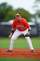 GCL Astros first baseman Connor MacDonald (68) during a game against the GCL Braves on July 23, 2015 at the Osceola County Stadium Complex in Kissimmee, Florida.  GCL Braves defeated GCL Astros 4-2.  (Mike Janes/Four Seam Images)