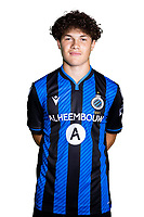 20th August 2020, Brugge, Belgium;  Kyriani Sabbe pictured during the team photo shoot of Club Brugge NXT prior the Proximus league football season 2020 - 2021 at the Belfius Base camp